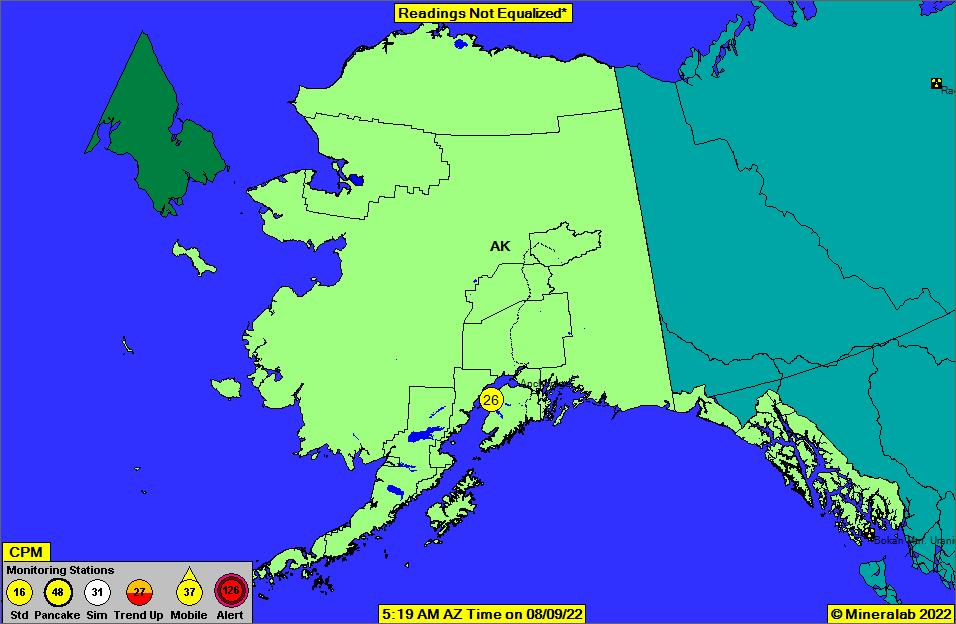 Alaska Current EPA Radnet Radiation Air Monitoring Data