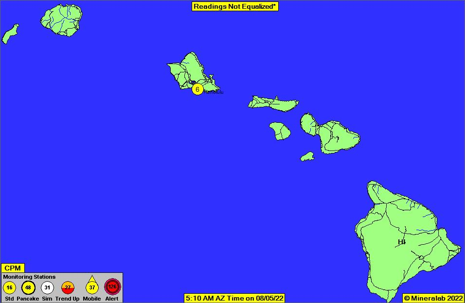 Hawaii Current EPA Radnet Radiation Air Monitoring Data